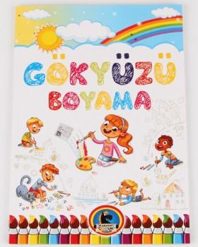 Gökyüzü Boyama Kitabı-Örnekli Renkli