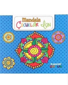 Çocuklar için Mandala Boyama Kitabı, Mavi