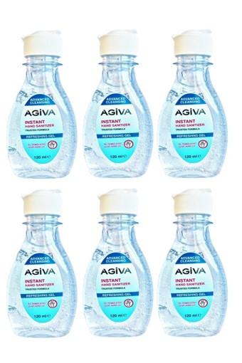 Agiva Dezenfektan Antibakteriyel El Temizleyici Jel 120ml 6 Adet